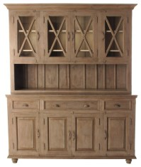 French Country Plantation 4 Door Hutch Cabinet, Large ...