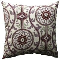 "Suzani Damask Plum 18"" Throw Pillow - Farmhouse ..."