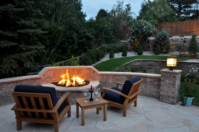 Outdoor Fire Features Traditional Patio Denver By