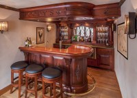 English style basement pub - Traditional - Home Bar ...