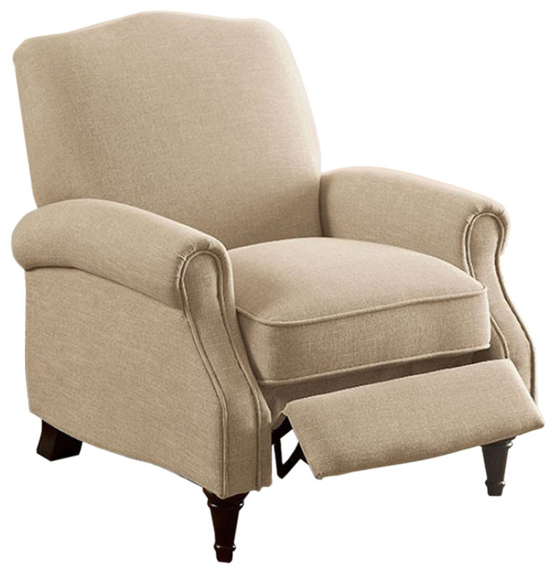 push back chair simply elegant covers and linens paulette transitional beige traditional recliner chairs by buydbest