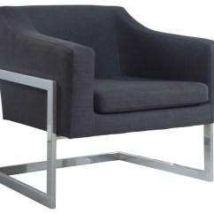 Fabric Accent Chairs Living Room Rugs For Small Rooms Modern Chrome Gray Chair Contemporary Armchairs And By Furniture Import Export Inc
