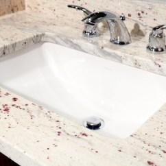High End Office Chairs Swivel Chair Base River White Granite Vanity - Modern Bathroom Boston