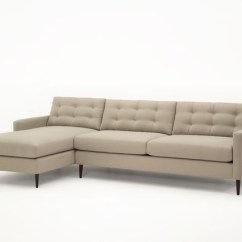 Divani Casa 5106 Modern White Italian Leather Sectional Sofa Futon Paramount Sectional: Chaise And Adjacent 2-seater, Chalk ...