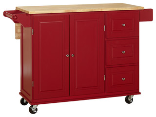 Sundance Kitchen Cart With Wood Top  Transitional