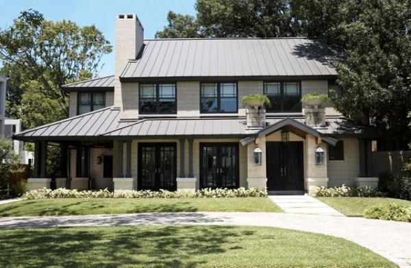 modern craftsman exterior - contemporary
