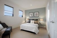 Balwyn North, Guest Bedroom with Duck Egg Blue painted ...