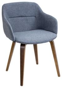 Campania Mid-Century Modern Chair in Walnut Wood ...