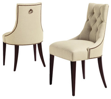 baker tufted dining chairs walmart baby high chair chaise classique chic