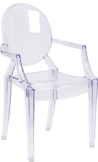 ghost chairs walmart lounge chair cushions with arms in transparent crystal contemporary