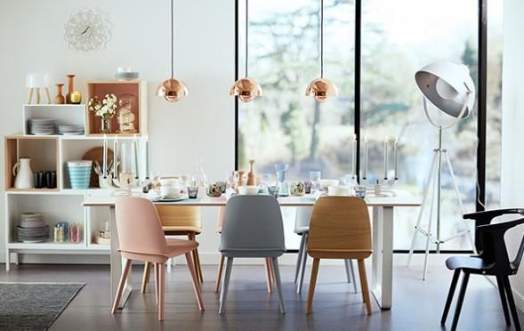 Retro 60s Scandinavian Style  Minimalistisch  Esszimmer