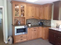 Alder wood, Frameless Cabinetry
