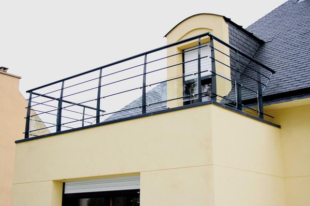 Gardecorps extrieurs  Moderne  Terrasse en Bois  Rennes  par Escaliers Potier