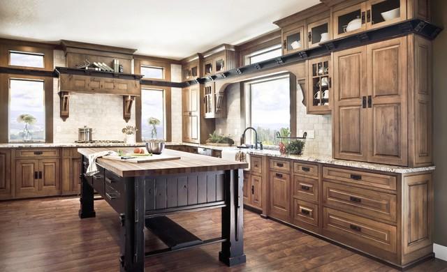 craftsman style kitchen cabinets tuscan island image and shower mandra st hzcdn ss 1ca17fec0ff3147c 4 9581 traditi create a