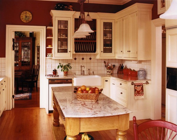 antique farmhouse kitchen cabinets Old Farmhouse - Traditional - Kitchen - San Francisco - by Mahoney Architects & Interiors