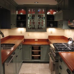 Kitchen Cabinet Shelves Clogged Drain Country Galley - Traditional New York ...