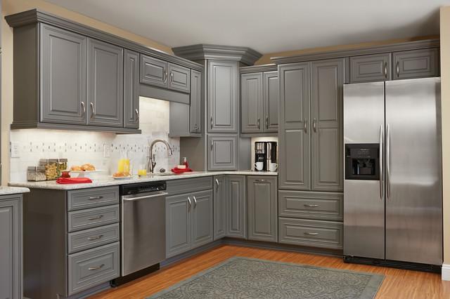 Master Brand Schrock Galena Gray Kitchen Cabinets