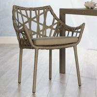 - Euro Style Gazelle Rattan Dining Arm Chair - White - Set ...