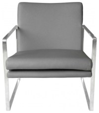 Lennox Faux Leather Chair With Stainless Steel Frame ...