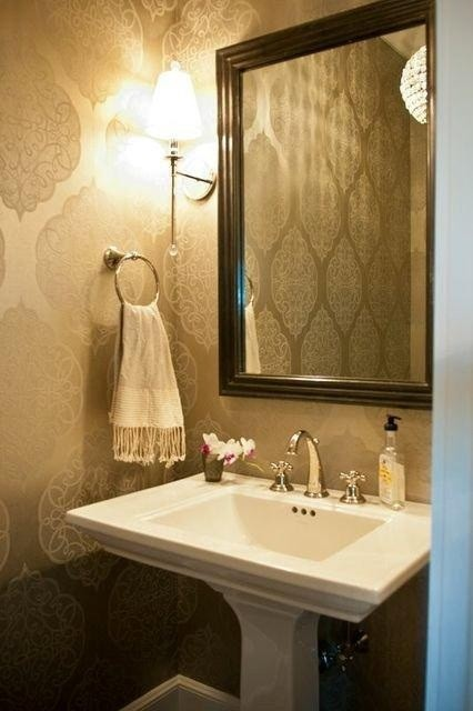 New York country home  Transitional  Powder Room  new york  by Olley Court