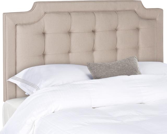 Safavieh Sapphire Tufted Linen Headboard, Taupe