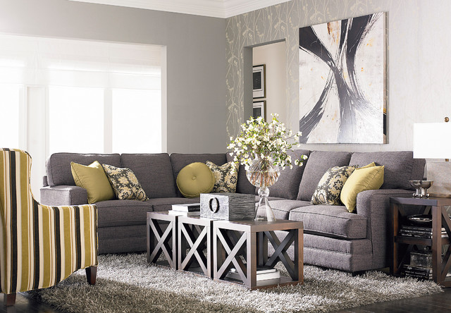 bassett office chair four dining set hgtv home custom upholstery xl l-shaped sectional by furniture - modern living room ...