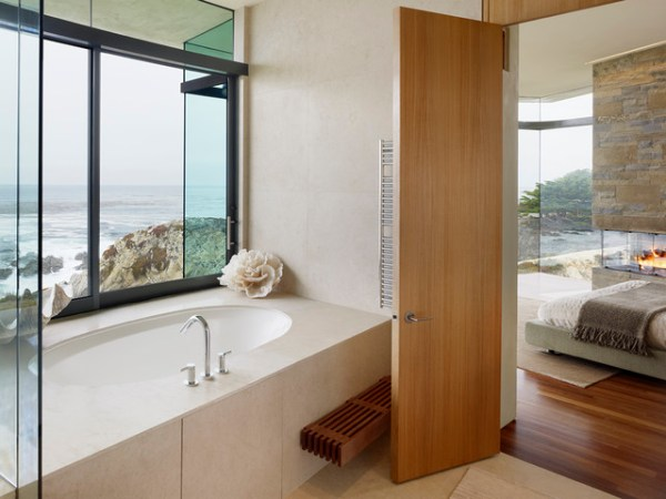 contemporary beach house bathroom How to Choose an Interior Door Style – the House of Grace