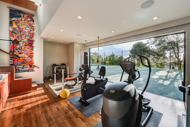 Modern Gym In Piedmont Accessory Building Contemporary