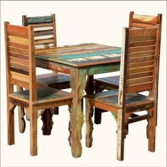 Rustic Wood Kitchen Table And Chairs Hanging Chair Lounger Reclaimed Dining Room Ideas W Shutter Back For 4