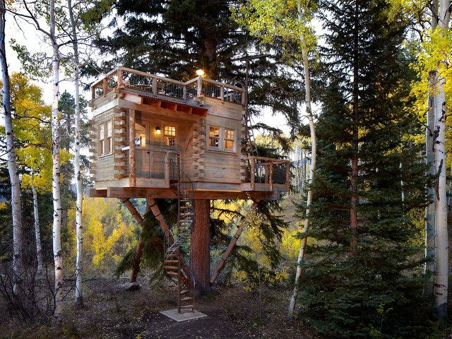 Colorado Treehouse Rustic Exterior Denver By Missy Brown