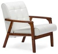 Mid-Century Masterpieces Club Chair, White - Midcentury ...