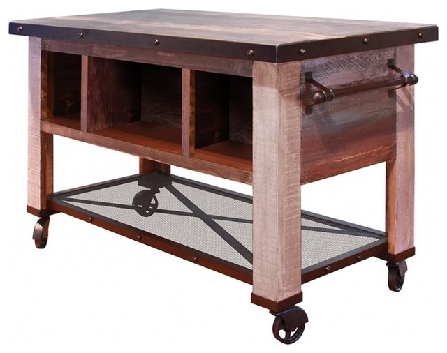 kitchen prep table free standing cupboards bayshore island industrial islands and carts by crafters weavers