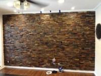 Interior Ledger Stone Wall Application - Rustic - Los ...