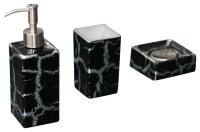Kalahari Luxury Bathroom Set, Black Silver - Contemporary ...