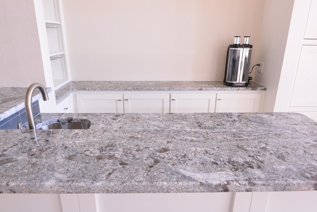 Ash Blue granite kitchen  bar  Traditional  Dallas  by