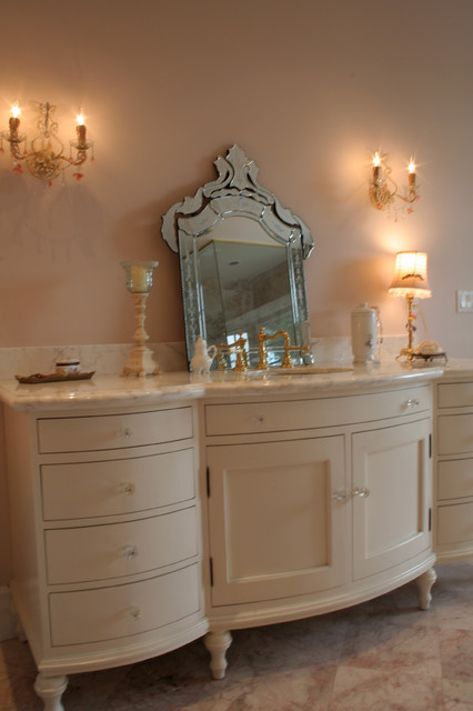 country shelves for kitchen funnels custom traditional/french bathroom vanity - traditional ...
