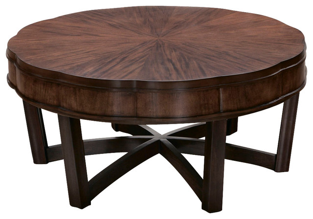 American Drew Miramar Round Cocktail Table In Auburn