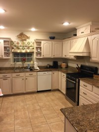 Gray with cream cabinets?