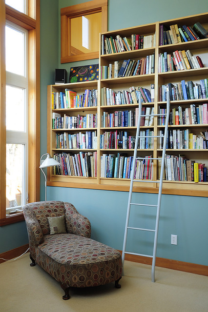 Upstairs Library  Traditional  Family Room  Portland