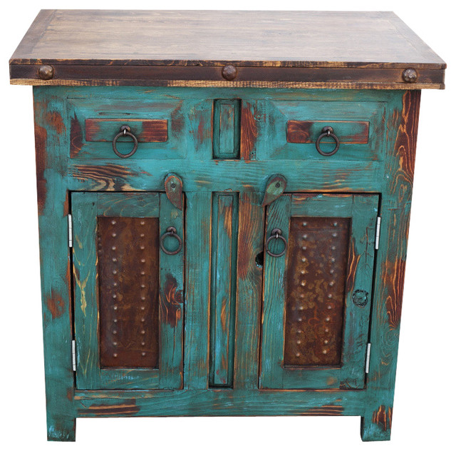 Distressed Turquoise Vanity 30  Bathroom Vanities And