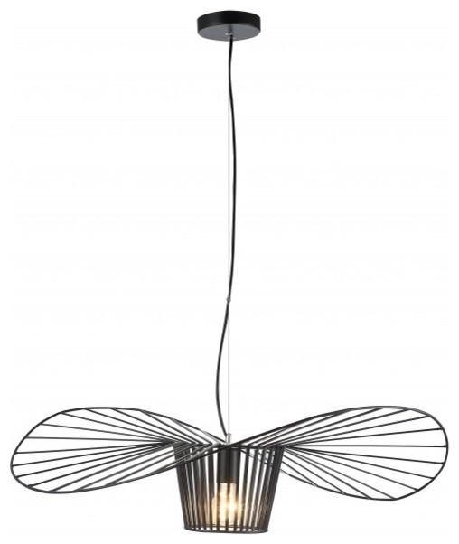 Single Pendant Black Iron Wire
