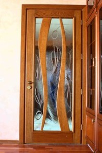 Doors with Tiffany Style stained glass inserts - Interior ...