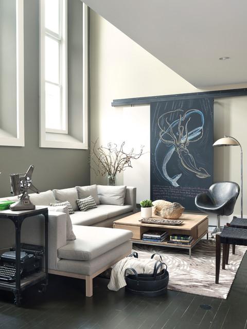 Modern Loft  Contemporary  Living Room  Boston  by Koo de Kir