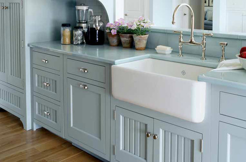 """rohl rc3018 30"""" handcrafted, fireclay, apron-front farmhouse kitchen sink"""