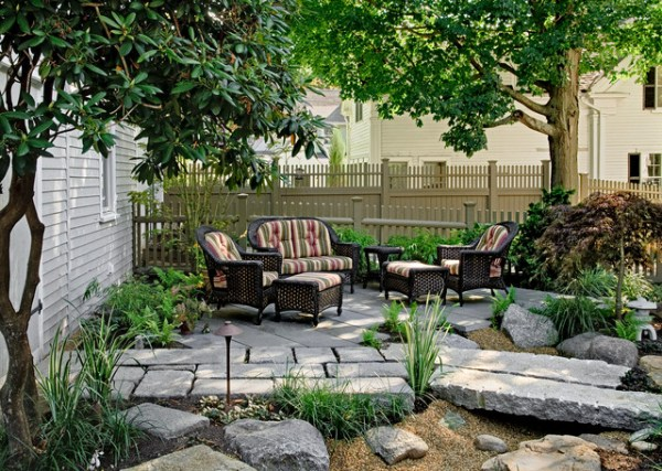pocket garden - traditional patio