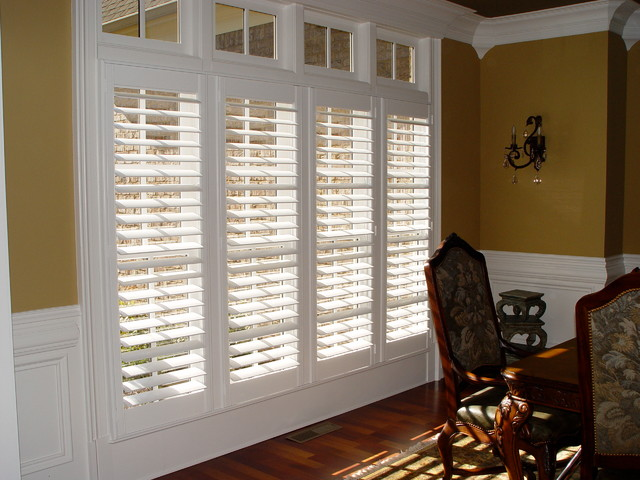 Elite Clear View Shutter Designs  Contemporary  Living Room  Charlotte  by Elite Shutters