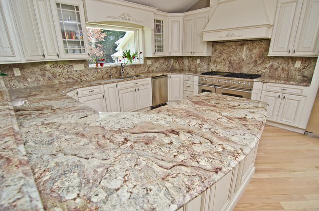 Photos Typhoon Bordeaux Granite With Full Backsplash Traditional Kitchen Dc Metro