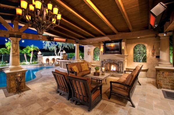 outdoor rooms patio covers - mediterranean