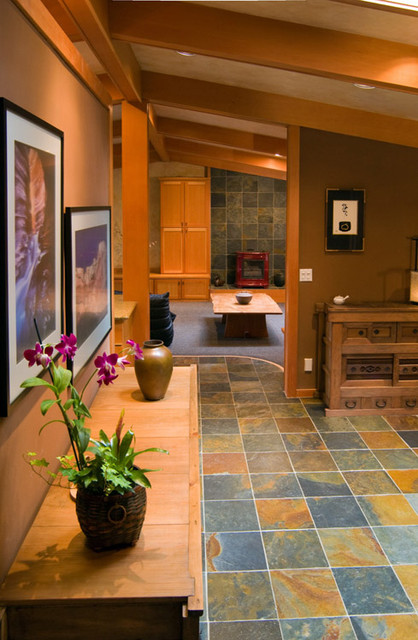 Japanese remodel entryway  Asian  Entry  Portland  by