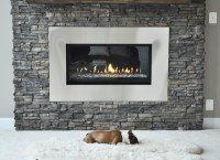 Stone Fireplace Renovation - Contemporary - Living Room ...